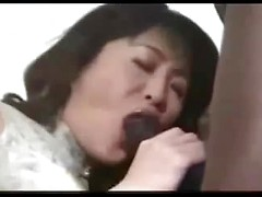His Asian wife tries big black cock for the first time and she cums all over it